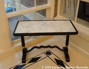 Hand Painted Cararra Marble Table