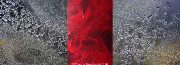 Italian Silver Pietra Levigata with Red Stucco Finishes